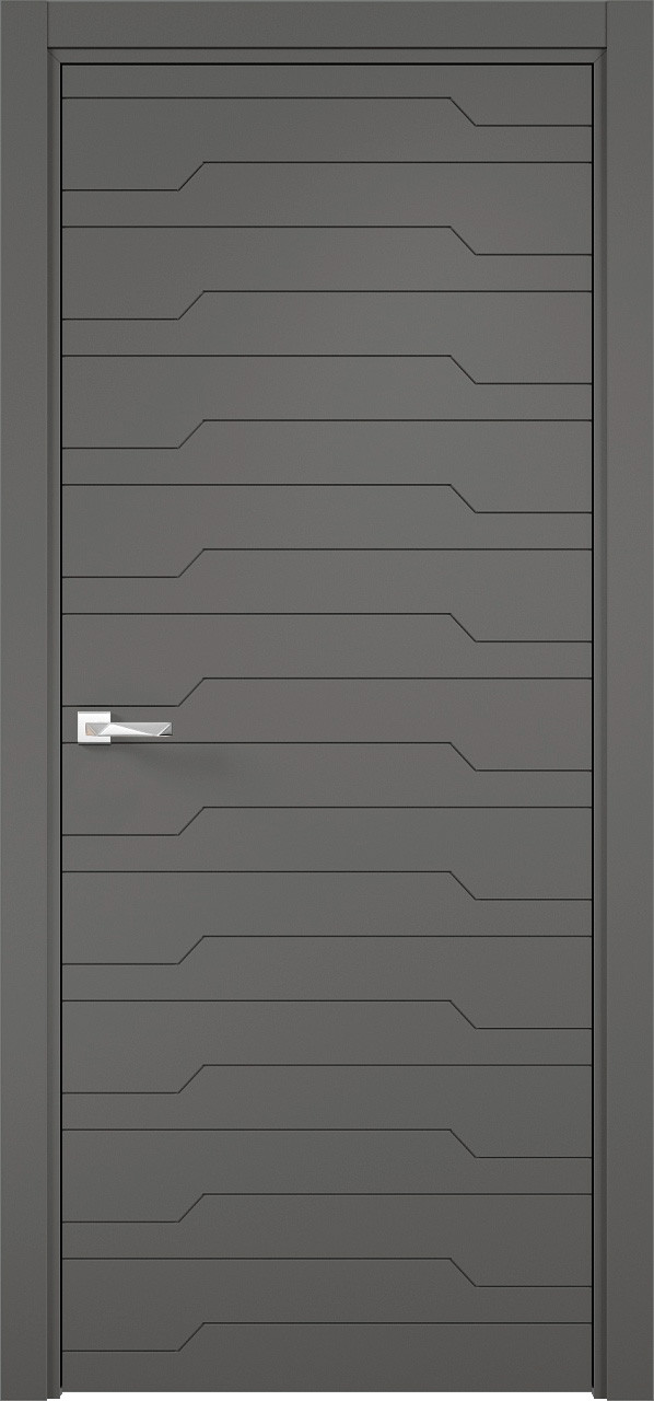 Межкомнатная дверь Верда эмалит Loyard Севилья 30 ДГ Софт Графит