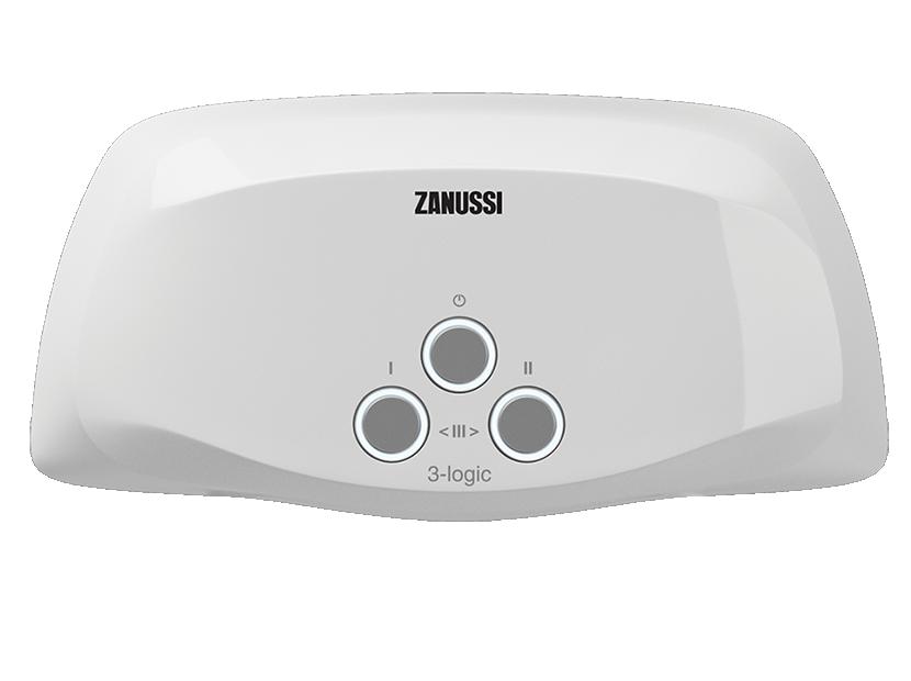 Водонагреватель проточный электрический Zanussi 3-logic 3,5 T (кран)