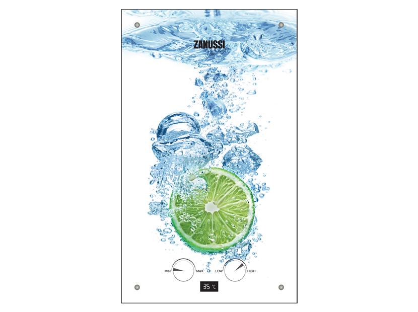 Газовая колонка Zanussi GWH 12 Fonte Glass Lime