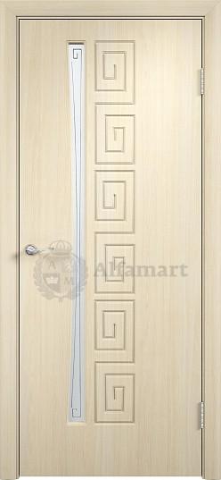 Дверь ПВХ Верда Омега ДО Беленый дуб (стекло Сатинато) 900х2000 Последняя по акции