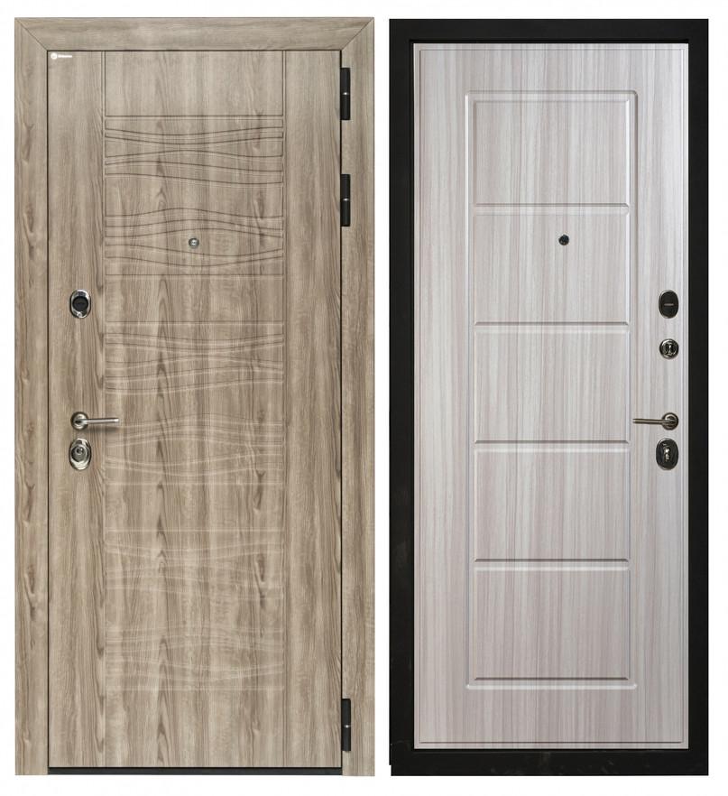 Сейф-дверь Sidoorov Максимум SM 105 Штиль 3D Серое дерево / Ника Сандал белый