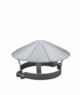 Зонтик из оцинковки d150