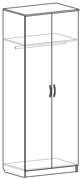 Шагане Ш702 Шкаф со штангой