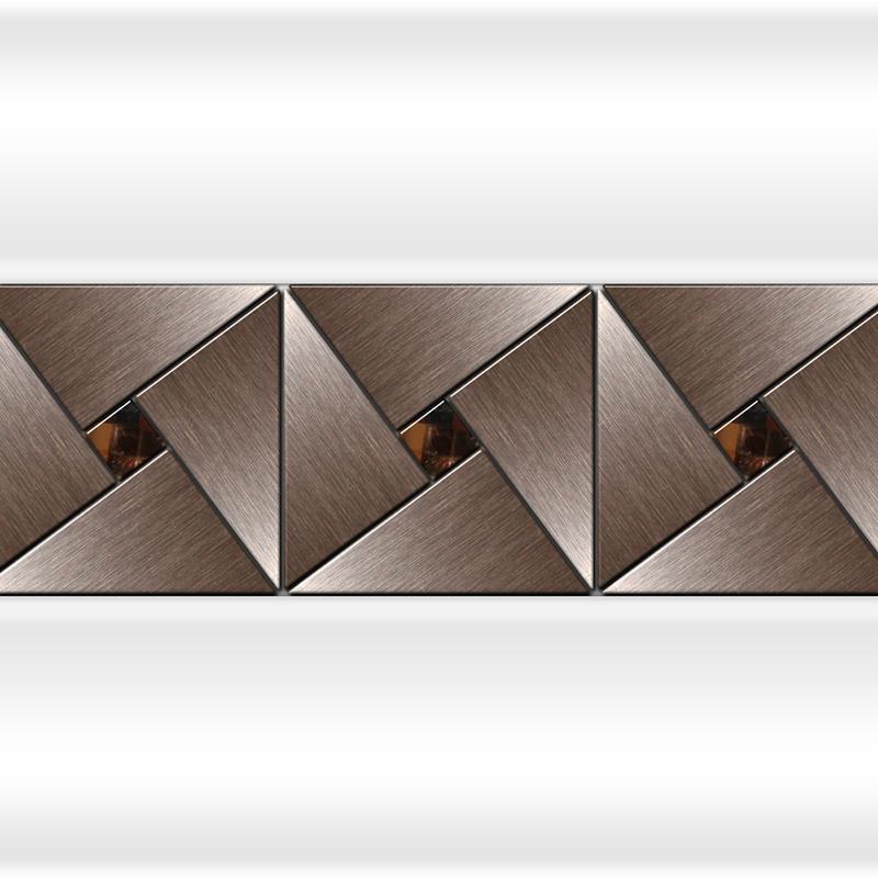 Декоративная отделка фронтальной панели: вертикальная вставка АРТ-МОЗАЙКА Bronze