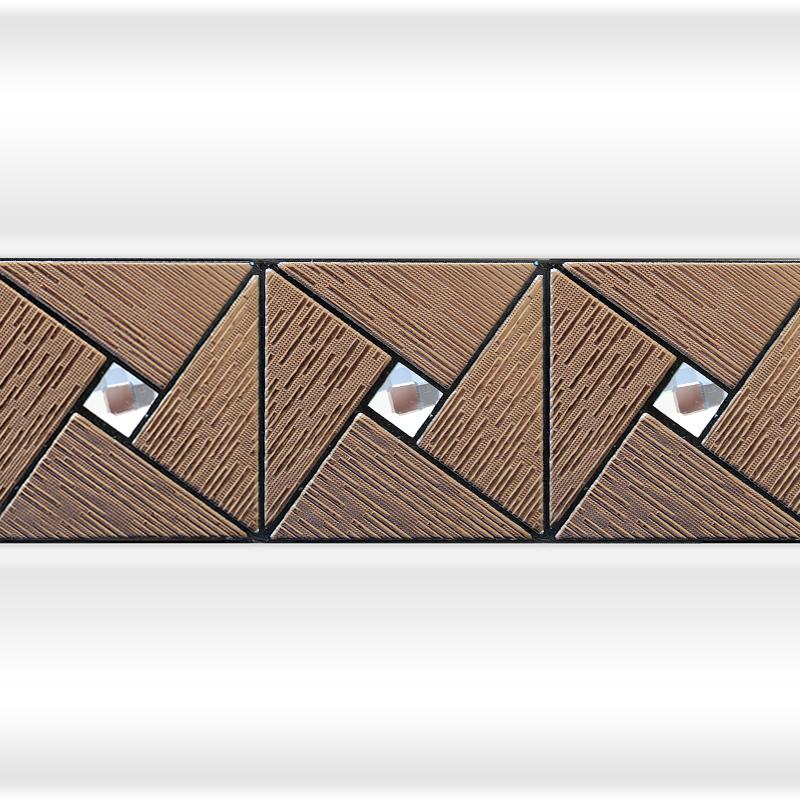 Декоративная отделка фронтальной панели: вертикальная вставка АРТ-МОЗАЙКА Bronze №2