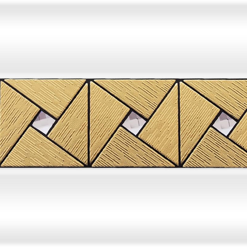 Декоративная отделка фронтальной панели: вертикальная вставка АРТ-МОЗАЙКА Gold №1