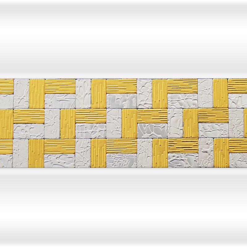 Декоративная отделка фронтальной панели: вертикальная вставка АРТ-МОЗАЙКА Лесенка Gold