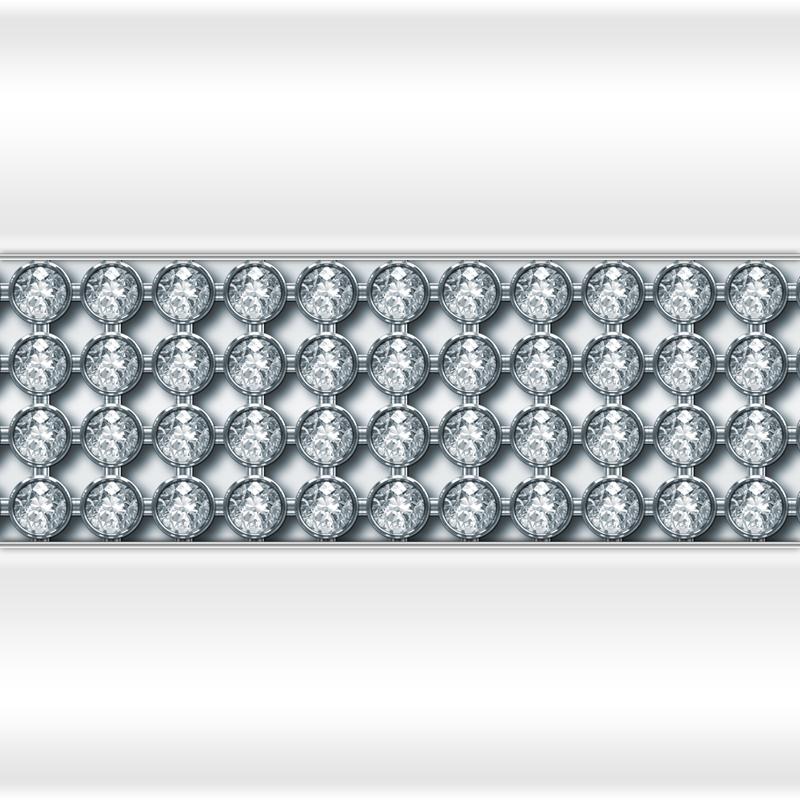 Декоративная отделка фронтальной панели: горизонтальная вставка Кристаллы Swarovski Chrome