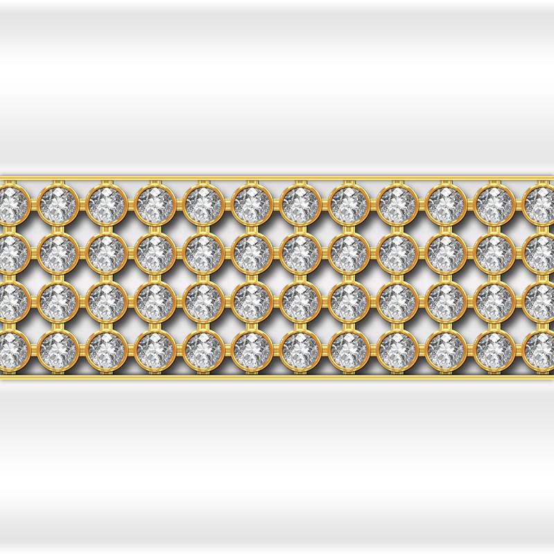 Декоративная отделка фронтальной панели: горизонтальная вставка Кристаллы Swarovski Gold